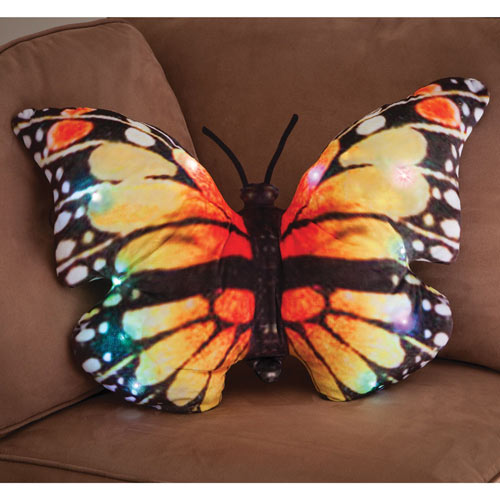 LED Monarch Butterfly Cushion
