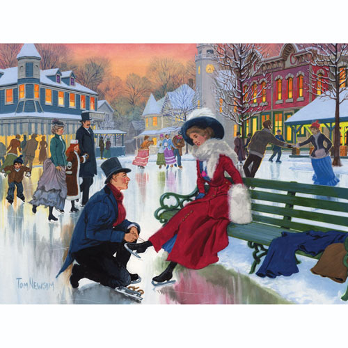 Skaters In Love 500 Piece Jigsaw Puzzle
