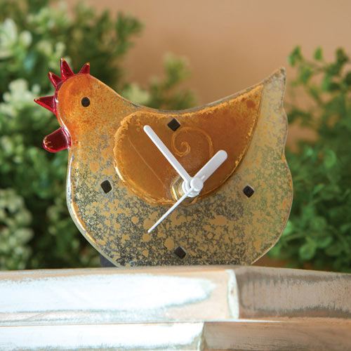 Golden Rooster Clock