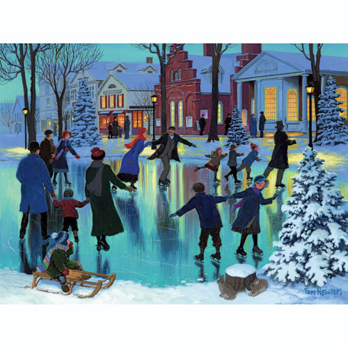 Joyful Skaters 500 Piece Jigsaw Puzzle