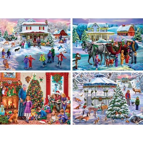 Set of 4: Mary Thompson 300 Large Piece Jigsaw Puzzles
