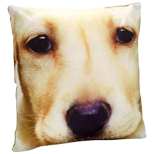 Dog Face Pillow - Yellow Lab