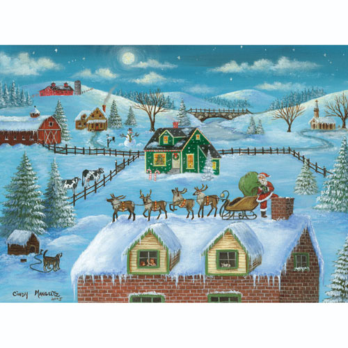 A Visit from Santa 500 Piece Jigsaw Puzzle