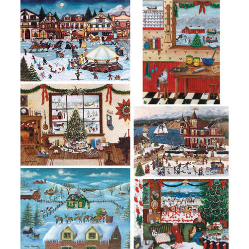 Set of 6: Cindy Mangutz 1000 Piece Jigsaw Puzzles