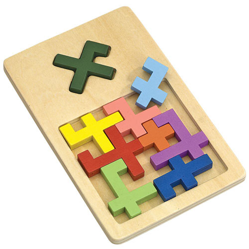 X Marks the Spot Wooden Puzzle Brainteaser