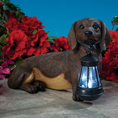 Dachshund Solar LED Dog Breed Garden Lantern