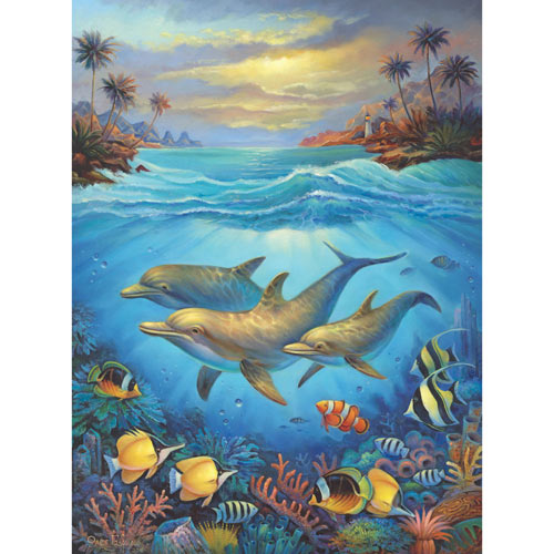 Blue Lagoon 300 Large Piece Jigsaw Puzzle