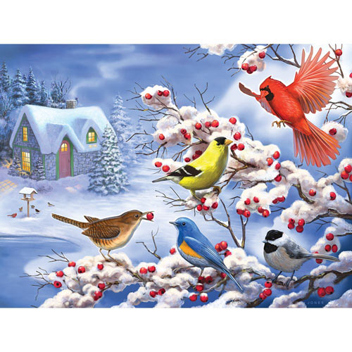 Winter Birds 300 Large Piece Jigsaw Puzzle