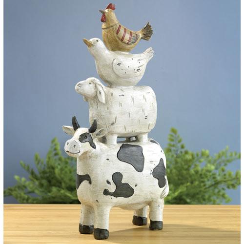 Stacked Farmyard Animal Figurines