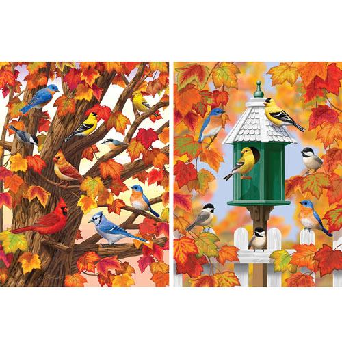 Santa's Winter Walk 300 Large Piece Glitter Effects Jigsaw Puzzle
