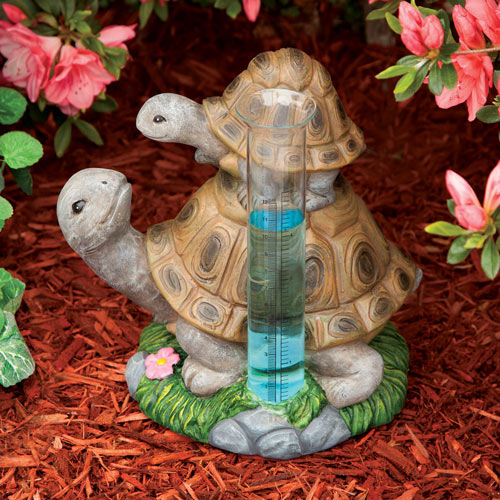 Loving Turtles Rain Gauge
