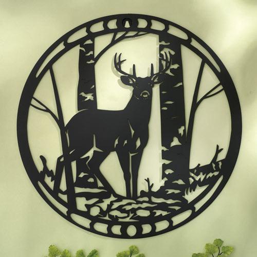 Deer Sihouette Metal Wall Art