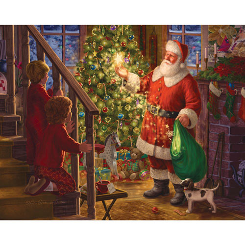 Children Watching Santa 300 Large Piece Jigsaw Puzzle