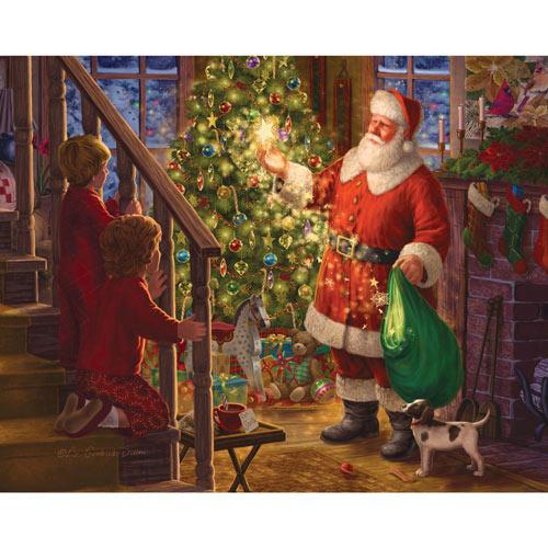 Children Watching Santa 300 Large Piece Jigsaw Puzzle