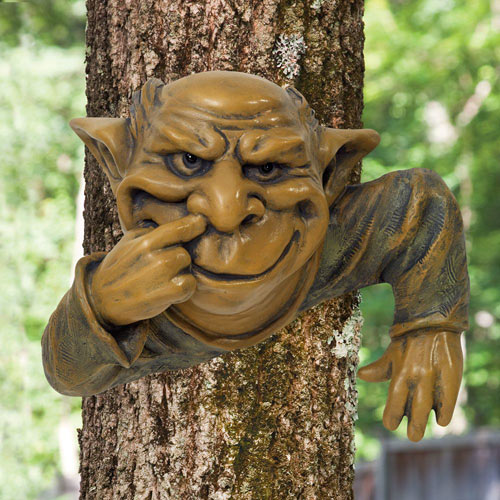 Nose Picking Gnome Tree Hugger