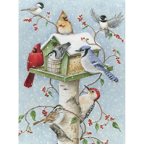 Winter Birds 1000 Piece Jigsaw Puzzle