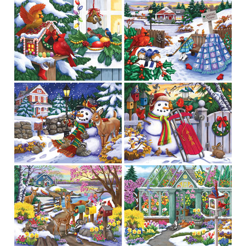 Set of 6: Nancy Wernersbach 300  Large Piece Puzzles