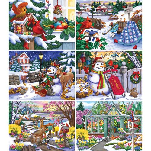 Set of 6: Nancy Wernersbach 500 Piece Puzzles