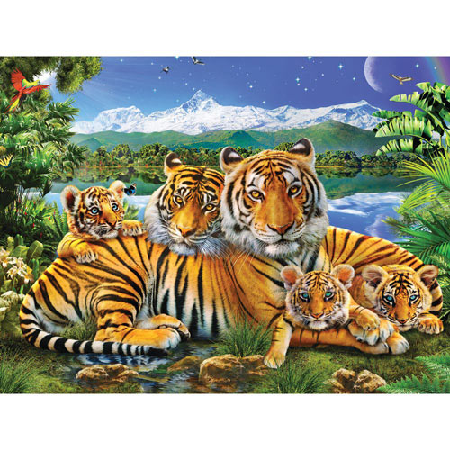 Loving Tigers 500 Piece Jigsaw Puzzle