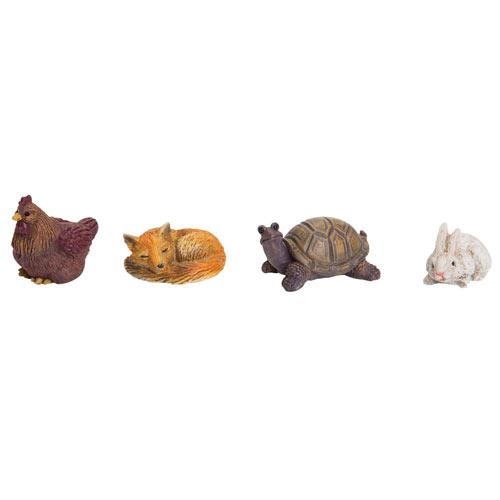 Four Resin Animals