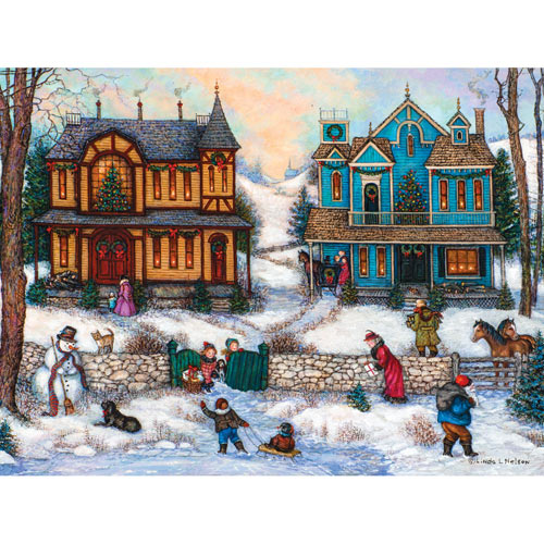 Christmas Day Visitor 300 Large Piece Jigsaw Puzzle