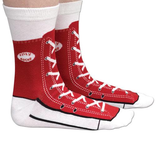 Red Sneaker Socks