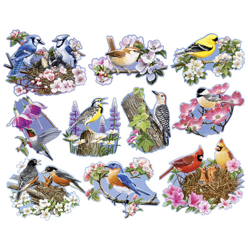 Birds & Blossoms 750 Piece Shaped Mini Jigsaw Puzzles