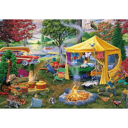 Seasons End Campfire 500 Piece Jigsaw Puzzle