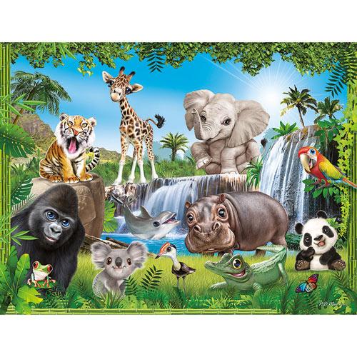 Jungle Animal Club 100 Large Piece Jigsaw Puzzle