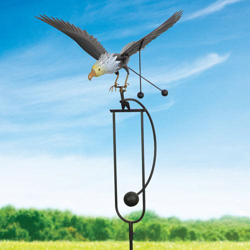 Flying Eagle Garden Stake Metal Garden Sculpture