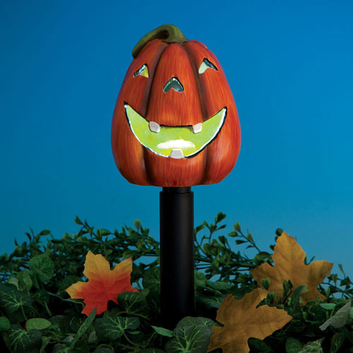 Solar LED Pumpkin Garden Stake