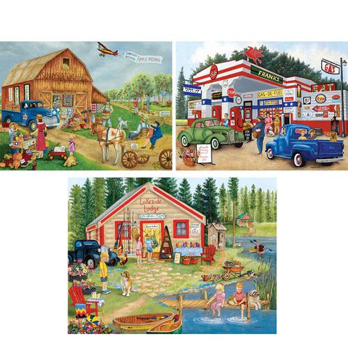 Set of 3: Kay Lamb Shannon 300 Large Piece Jigsaw Puzzles