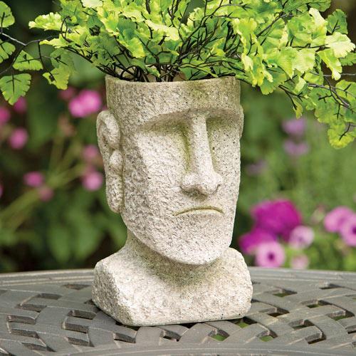 Stone Face Garden Planter