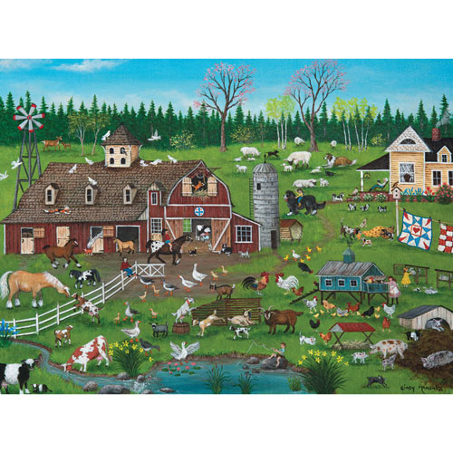 Barnyard 300 Large Piece Jigsaw Puzzle