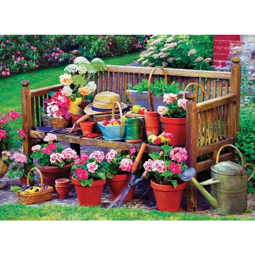 Garden Bench 1000 Piece Jigsaw Puzzle