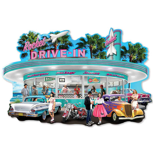 Set of 4: Abraham Hunter 300 Large Piece Jigsaw Puzzles