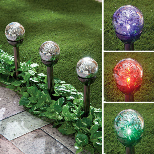 Set of 3: Solar Color Changing Mercury Stakes