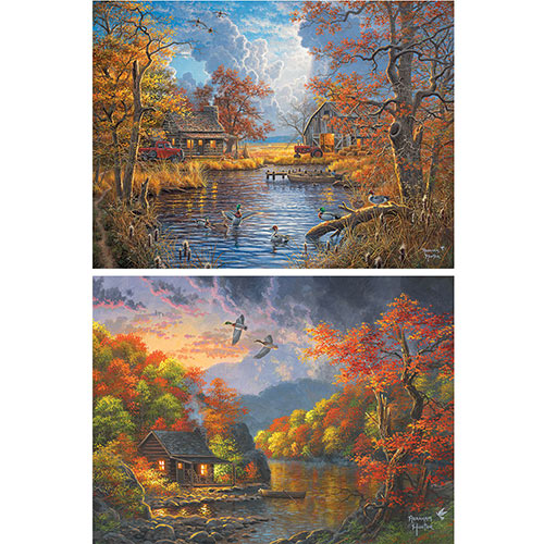 Set of 2: Abraham Hunter 1000 Piece Jigsaw Puzzles
