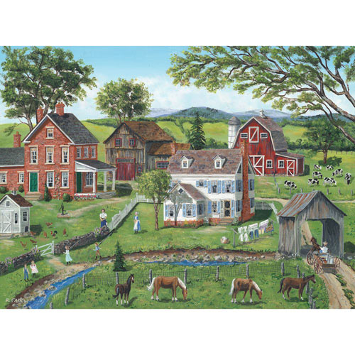 Chatting Across the Fence 1000 Piece Jigsaw Puzzle