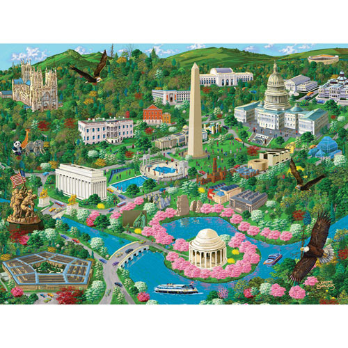 Washington D. C. 300 Large Piece Jigsaw Puzzle