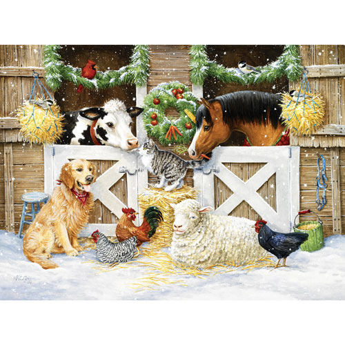 The Christmas Barn 300 Large Piece Jigsaw Puzzle