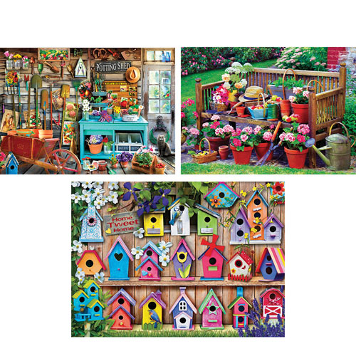 Set of 3: The Joys of Summer 1000 Piece Jigsaw Puzzles