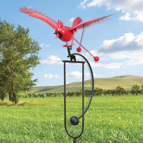 Flying Cardinal Garden Stake