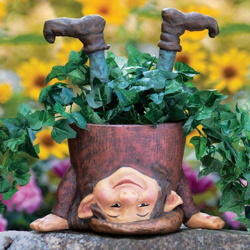 Topsy-Turvy Elf Planter