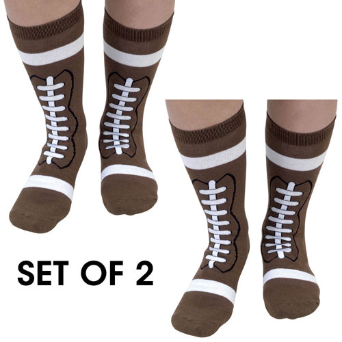 Set of 2 Pairs: Football Socks
