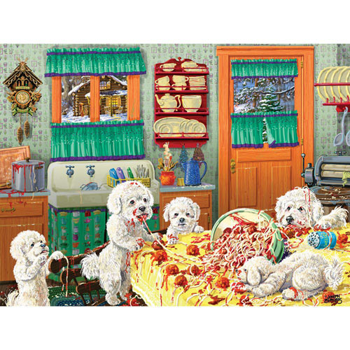 Dog Gone Good Pasta 300 Large Piece Jigsaw Puzzle