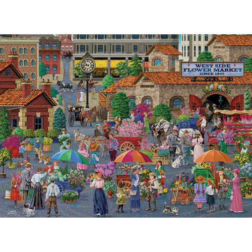 West Side Flower Market 1500 Piece Jigsaw Puzzle