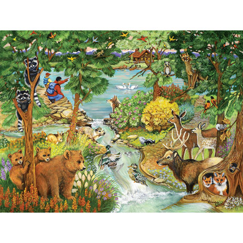 Forest Creek 500 Piece Jigsaw Puzzle