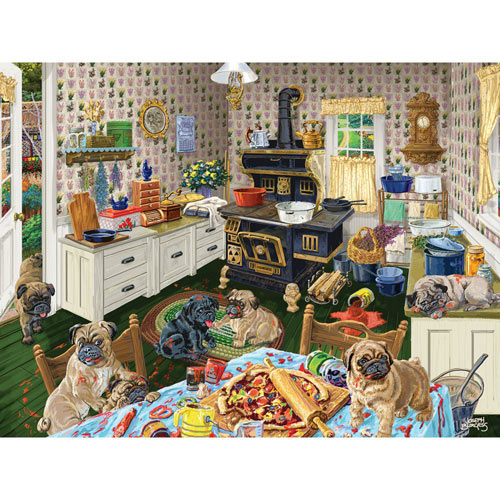 Dog Gone Good Pizza 500 Piece Jigsaw Puzzle