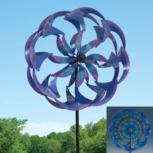 Wind-Powered LED Spinner